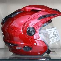 Helm RN Double Visor Maroon mirip Ink t1