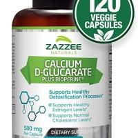 Calcium-d-Glucarate 120caps liver detox, prostate, PCOS, Metabolisme