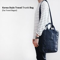 b2718e294954 Korea Style Travel Trunk Bag/Tas Selempang/Tas Bagasi-water blue