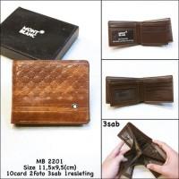 Dompet Pria MONT BLANC 2201 Premium Quality, Retsleting Slot 10Card