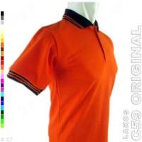 C59 Original K2-20 Kaos Polo Shirt Pria Lacost Polos Orange