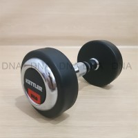 Dumbell Rubber Cover Chrome Fixed 5.0KG KETTLER - ORIGINAL