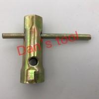 Kunci Busi Lokal 18mm x 21mm / Kunci Busi Plat