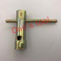 Kunci Busi Lokal 16mm x 18mm / Kunci Busi Plat