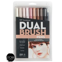 Tombow Dual Brush Pen Set 10 - Potrait Palette