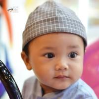 Peci Topi Motif Kotak Kids by Bunayya Size XL