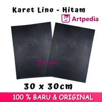 Karet Lino - Hitam Ukuran 30cmx30cm / Linoleum (Lino Cut Material)