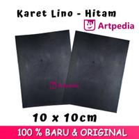 Karet Lino - Hitam Ukuran 10cmx10cm / Linoleum (Lino Cut Material)
