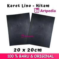 Karet Lino - Hitam Ukuran 20cmx20cm / Linoleum (Lino Cut Material)