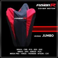 Cover Motor FUSION R Jumbo / Sarung Motor Nmax Lexi PCX Ninja CBR GSX
