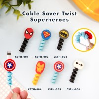 Cable Saver Twist / Pelindung Ujung Kabel Android Apple - SUPER HEROE