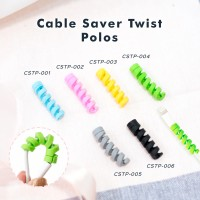 Cable Saver Twist / Pelindung Ujung Kabel Android Apple - POLOS