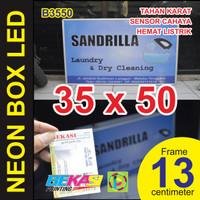 B3550 - Neon Box LED Otomatis Aluminium Extrusion Uk 13 x 35 x 50 cm