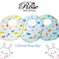 3 PCS Celemek / Tadah liur bayi besar Premium Quality SNI