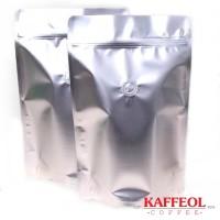 Standing Pouch / Kemasan Kopi [Valve + Zipper] [250g]   Silver