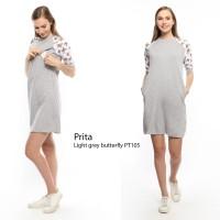 Just Mom Baju menyusui Prita light grey PT105