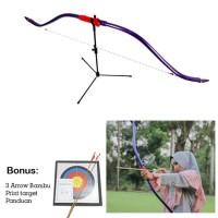 Busur Panah Horsebow pemula paket 3 arrow