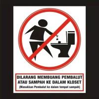 Jual Stiker Dilarang Membuang Sampahpembalut Di Toilet Kota Pasuruan Disini Aje Tokopedia