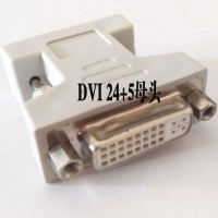 2pcies/lot VGA SVGA RGB 15Pin Male to DVI -I 24 5 Female adapter Beige