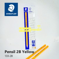 Pensil Staedtler 2B Yellow/Staedtler Yellow Pencil 133-2B