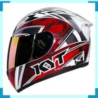 Helm KYT RC Seven RC7 7 Full Face Motif Fullface Putih Merah