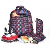 Okiedog Freckles Backpack Blue Red Rombe