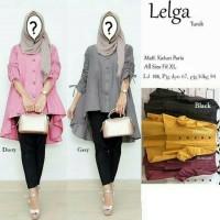 Pakaian Baju Atasan Wanita Muslim Tunik LELGA Terbaru Size XL