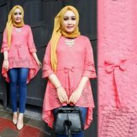 TUNIK AISYAH BRUKAT baju atasan pakaian wanita Zahra Stores