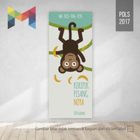 Cetak Sticker Stiker Label 4 x 8 Kemasan Kopi Keripik Juice - PDLS2017
