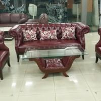 Sofa Turkey 311 + Meja (Kayu Jati)