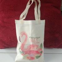 Tas Souvenir Pouch Hampers Ransel Totebag Belacu Blacu - Flamingo