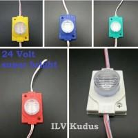 Led 1 Mata 24 Volt 24V Lensa Modul 1.5W 1 LED 24V Super Bright Truk Bu