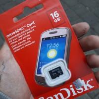 MICRO SD SANDISK 16 GB Class 4 original non adapter