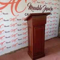 podium minimalis,mimbar masjid,podium jati