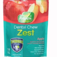 "happi doggy zest Apel dental chew 2,5"" threat snack anjing isi 18pcs"