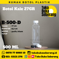 Botol Plastik Kale Kotak 500 ml (D) / Botol jus / Botol air /PET/Murah
