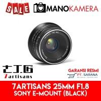 Lensa 7Artisans 25mm F1.8 For Sony E-Mount Garansi Resmi BLACK