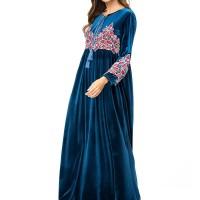 Beludru Abaya untuk Wanita Baju Muslim Kaftan Turki Arab Dubai Pakaian