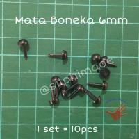 Mata Boneka 6 mm Tanpa Washer (Mata Amigurumi / Safety Eyes)