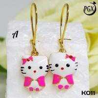 K11 Anting Anak Hello Kitty Xuping Yaxiya - Perhiasan Lapis Emas 18K