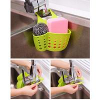 Gantungan Tempat Sabun Sikat Spons di kran Wastafel Sink bak cucian
