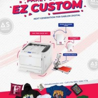 Paket Usaha Sablon EZ Custom   Rhino EZ Paper   Oki White Toner
