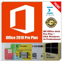 Paket COA Windows 10 Pro Dan Office 2019 Pro Plus ORIGINAL License