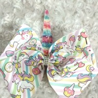 unicorn jumbo hairbows