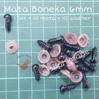 Mata Boneka 6 mm Hitam (Mata Amigurumi / Safety Eyes)