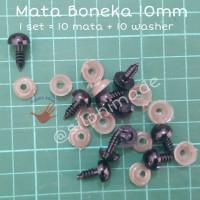 Mata Boneka 10 mm Hitam (Mata Amigurumi / Safety Eyes)