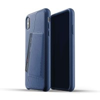 MUJJO Leather Wallet Case for iPhone XS Max Original - Blue