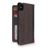 Twelve South Case BookBook 3-in-1 Leather Wallet iPhone XS Max - Brown