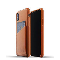MUJJO Leather Wallet Case for iPhone XS-X Original - Tan Brown