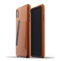 MUJJO Leather Wallet Case for iPhone XS Max Original - Tan Brown